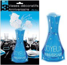 Vase anniversaire bleu océan REF&