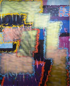 From Santa Monica Museum of Art, Keltie Ferris, Doomsday Scenario Oil, acrylic and oil pastel on canvas, 90 × 80 in Abstract Art Images, Dash And Dot, Abstract Painters, Modern Artists, Santa Monica, Art Museum, Graffiti, Vibrant, Artsy