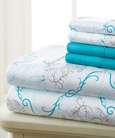 Look what I found on #zulily! Turquoise Medallion Prestige Six-Piece Sheet Set by Hotel 5th Ave™ #zulilyfinds