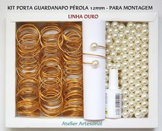 150 Unid Porta Guardanapo Pérola Kit