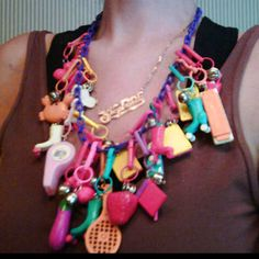 OMG- Children of the 80s remember these? Plastic charms that could be on necklace or bracelet?