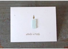 Etsy Transaction - Beach Glass Birthday Wishes Greeting Card - Browns, Greens and White Glass