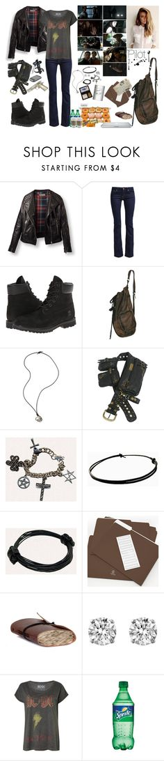 Supernatural, Pilot S1: E1 by mermaidprincezz on Polyvore featuring 7 For All Mankind, Timberland, DAY Birger et Mikkelsen, Alexander McQueen, Hershey's and Episode