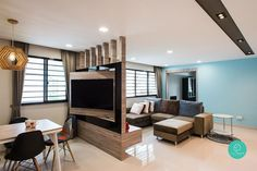 No More Walls: 8 Smart Partition Ideas for Small Homes - Living Room Furniture - Home Design Living Room Partition Design, Living Room Divider, Room Partition Designs, Partition Ideas, Room Partition Wall, Room Partitions, Small Living Rooms, Home Living Room, Living Room Designs