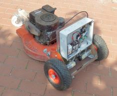 Ardumower Gasoline - www. Garden Tractor Attachments, Yard Tractors, Robotic Welding, Lawn Mower Repair, Diy Tech, Raspberry Pi Projects, Riding Lawn Mowers, Arduino Projects, Stepper Motor