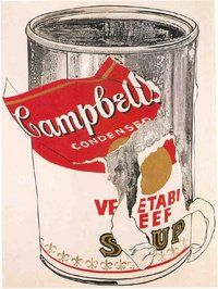Big Torn Campbell's Soup Can (Vegetable Beef)- Warhol
