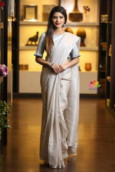 For pink linen saree