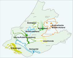 Recreatiegebieden in Zuid-Holland. Weidse polderlandschappen, waterrijke natuur of wuivende bossen, we hebben het allemaal in Zuid-Holland. Je kunt er genieten. Klik de gebieden op de kaart aan om kennis te maken met al het moois dat we te bieden hebben.