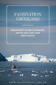 Grönland-Kreuzfahrt zu den schönsten Orten entlang der Westküste. Von großen und kleinen Orten, Gletschern, Eisbergen und Walen. Reisen In Europa, North Pole, Big Island, Travel Destinations, Europe, Landscape, Country, World, Beach