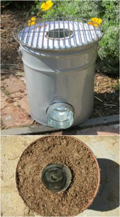 DIY Upcycled Bucket Rocket Stove