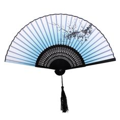 Japanese Chinese Bamboo Silk Plum Folding Hand Fan for Wedding Dancing Party Hand Fans For Wedding, Chinese Fans, Hand Held Fan, Accesorios Casual, Weapon Concept Art, Fancy Party, Traditional Paintings, Character Costumes, Ladies Party