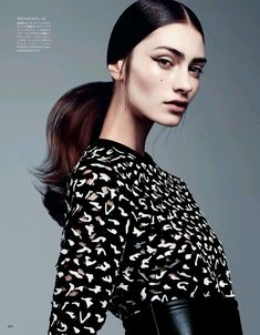 Eyeliner/lip color Marine Deleeuw by Steven Pan for Vogue Japan.