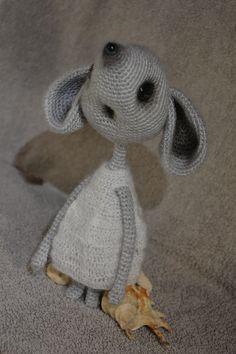 Crochet amigurumi Mouse Sofia LittleOwlsHut