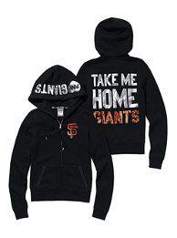 San Francisco Giants Bling Zip Hoodie