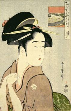 《芸者亀吉》 喜多川歌麿