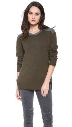 Vince Zip Side Colorblock Sweater