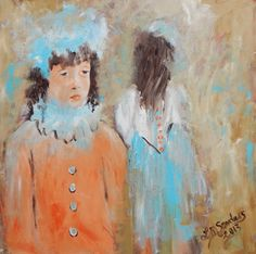 Impressionistic Figure Painting Old World by FlowerBranchStudio, $525.00