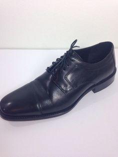 0e727a2bc9 J. Murphy by Johnston and Murphy Novick Black Cap Toe Lace Up Shoes 10.5 M