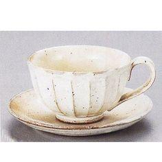¥1,848 コーヒーカップソーサー 土物 粉引 鉄彩 和陶器 美濃焼 カフェ 食器 業務用