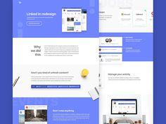 Linked In Redesign by Barbara Morrigan #Design Popular #Dribbble #shots