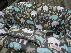 Shopping Cart cover for baby: Going to be making one of these for a friend but the pattern I got doesn't include a pocket; love that idea and I think I'll add one.