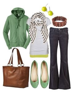 untitled by htotheb on Polyvore featuring BKE, Citizens of Humanity, Boden, Linea Pelle, The Row, Lori's Shoes, corduroy pants, brown, green and horizontal stripes