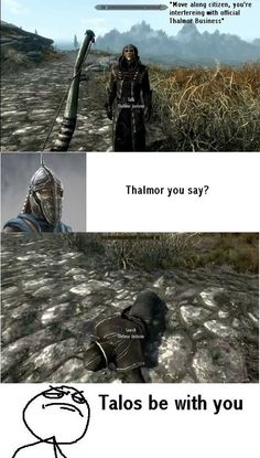 Im even in my Stormcloak Officers armor when that happens