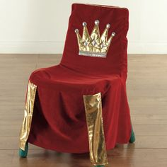 A birthday chair fit for a king make memories with this for Diy king throne chair