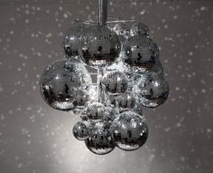 disco ball chandelier- I think that I might need to make one of these for the Saturday night dancing in our house.