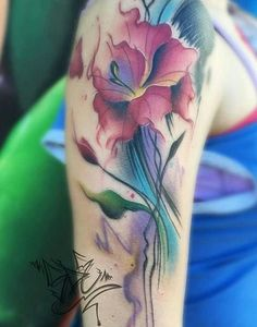 Gladiolus tattoo