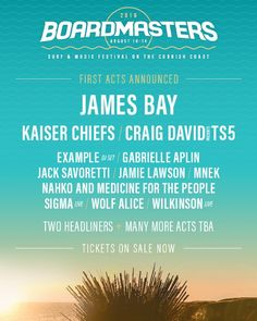 Headlining @boardmasters festival!!  by jamesbaymusic