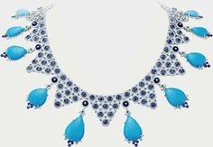 """Van Cleef & Arpels """"Reflets Adriatiques"""" Nnecklace from the """"Seven Seas"""" Collection Featuring Diamonds, Emeralds, Sapphires, Tourmalines and Turquoise Set in White Gold Bal Harbour Shops, Van Cleef Arpels, Turquoise Jewelry, Jewelry Necklaces, Jewellery, Sapphire, Luxury Fashion, White Gold, Pendants"""