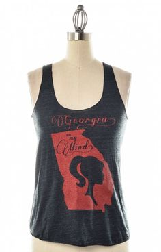 Sweet Georgia on My Mind tank is EXACTLY what you need to add to your more casual wardrobe! Represent the state well with Judith March 750T36BLK! The black tank detailed with red print looks great paired with shorts or a skirt.