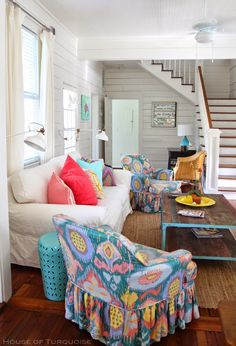 So this is the absolutely gorgeous home we stayed at while on Tybee Island! (Well half of it...