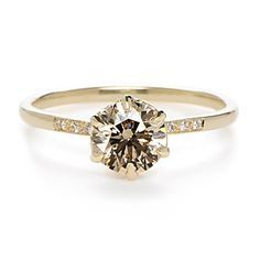 """My favorite ring in the whole world Anna Sheffield """"Hazeline"""" Champagne Diamond Ring $7200 Greenwich jewelers"""