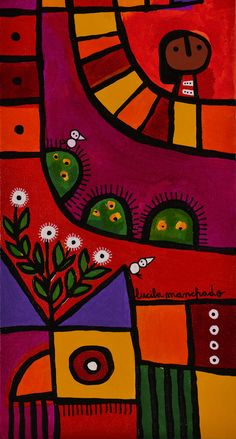 lucila manchado - serie dia de sol Arte Popular, Mandala, Symbols, Ceramics, Illustration, Kid Art, Sun, Tiles, Painted Trees