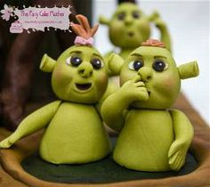 Sah biscuit shrek baby fondant or polymer all about sugar art cake toppings - Biscuit shrek ...
