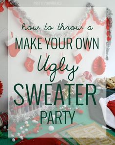 how to throw a 'make your own ugly sweater' party + DIY ugly Christmas sweater ideas! #uglysweaterchallenge #sp
