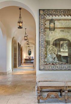 Galleries by Neighborhood : Preston Hollow Gallery Rustic Italian, Italian Home, Foyer Staircase, Staircases, Hallway Designs, Tuscan Design, Mediterranean Decor, Tuscan Decorating, Vintage Interiors
