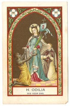RARE St. Odile Antique Vintage Dutch Holy Prayer by 12StarsVintage