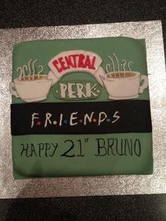 Birthday Cake - Friends TV Show Theme - Cakenstein Cakes Friends Birthday Cake, 25th Birthday Parties, Friends Cake, Themed Birthday Cakes, I Love My Friends, Friends Tv Show, Mothes Day Gifts, Cake Pictures, Cake Pics