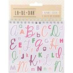 Shop the range of tags, labels and pockets perfect for scrapbooking. Alphabet Stickers, Creative Journal, Letter A Crafts, Bullet Journal Layout, Scrapbook Journal, Diy Supplies, Journal Stickers, Planner Template, Craft Sale