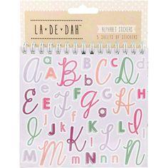 La De Dah Alphabet Sticker Flipbook 5 Sheets