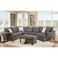 Chelsea Home Furniture Cupertino 3 Piece Sectional Sofa   183810 4041 SEC FE