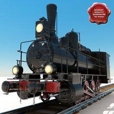Lightwave Old Steam Locomotive - 3D Model