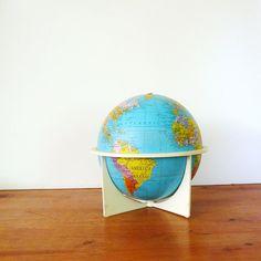 vintage globe $24
