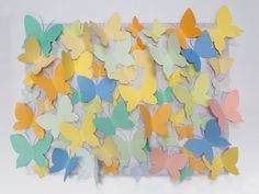 Items similar to Paper Butterflies Butterly Wall Hangings on Distressed White Wooden Board Wedding Birthday Party Decoration backdrop on Etsy Paper Butterflies, Paper Flowers, Butterfly, Birthday Party Decorations, Birthday Parties, Origami Decoration, Wall Hangings, Backdrops, Board