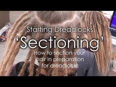 How to section dreadlocks - Starting Dreadlocks - 'Sectioning' - YouTube