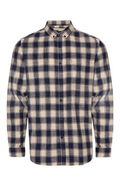 Farrell Blue Cream Check Shirt