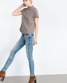 Image 1 of DISTRESSED JEANS from Zara